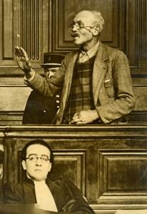 France Paris Criminology Killer Bertrand Trial Lawyer Old Press Photo 1936