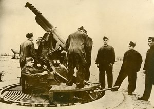 Belgium Albert Canal WWII Military Maneuver Anti Aircraft Gun Press Photo 1939