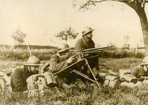 Belgium WWII Military Maneuver Gunner Light Machine Gun Old Press Photo 1937