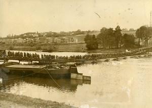 Belgium Namur Military Maneuver Bridge Unit Engineering Old Press Photo 1937