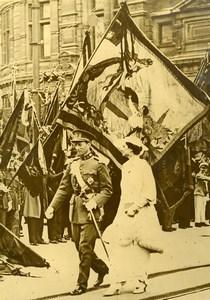Antwerp King Leopold & Queen Astrid of Belgium Old Press Photo 1935