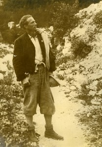King Leopold of Belgium Mountain Dolomites Alps Old Press Photo 1934