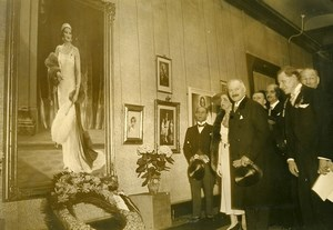 Queen Astrid of Belgium Tribute after her accidental Death Old Press Photo 1935