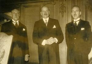 Belgium Political M Van Zeeland & M Flandin Old Press Photo 1936