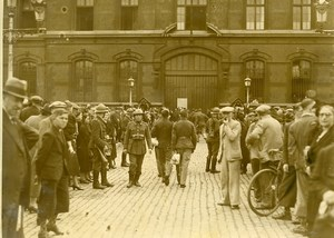 Belgium Brussels Caserne Mobilization of Reservists War Old Press Photo 1938