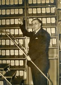 France Anthropologist Victor Henri Valois Musee de l'Homme Old Press Photo 1950