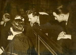 France Montbrison Criminology Murderer Commissaire Jovin Trial Old Photo 1948