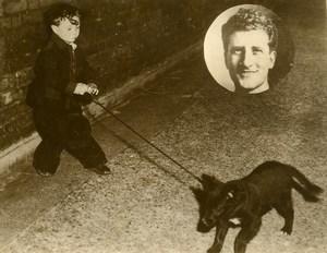 London David Baldwin & his dog Criminology Killer David Goldberg Old Photo 1946