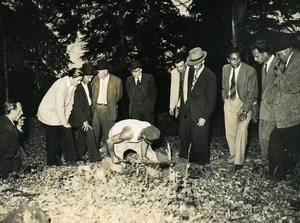 Bernay Criminology Louis Descamps Gamekeeper Killer Old Photo 1948