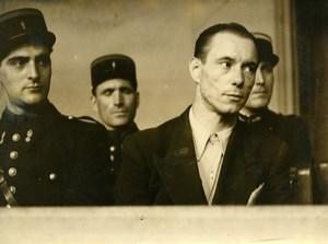 Paris Criminology Murderer Robert Garrigue Trial Policemen Old Photo 1948