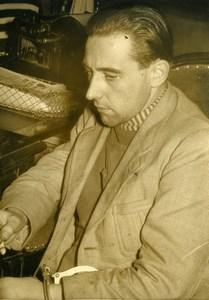France Paris Criminology Paul Guinard Murderer of Doctor Tiberi Old Photo 1949
