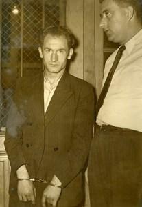France Paris Criminology Marcel Bry Bois de Vincennes murderer Old Photo 1950