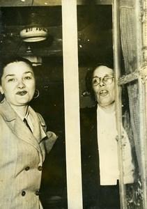 France Loudun Criminology Poisoner Marie Besnard Comes Home Old Photo 1954