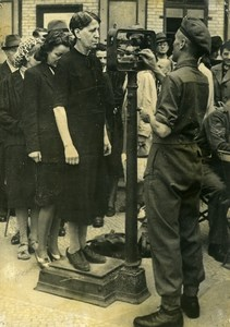 Germany Berlin Post War English Red Cross Health Check Old Photo 1945