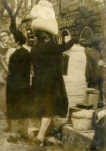 Italy Rome Roma Vittoria Place Post War Black Market Flour Old Photo 1946