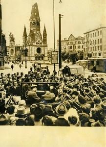 Germany Berlin Post War News Broadcasted Automobile Loudspeaker Old Photo 1948