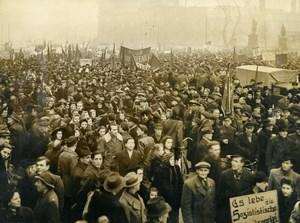 Germany Berlin Post War Peaceful Communist demonstration Russian Zone Photo 1948