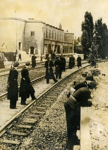 Germany Berlin Post War Railway Workers Strike Westkreuz Old Photo 1949