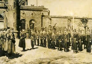 Germany Berlin Post War Spandau Jail Changing of the Guard Old Photo 1949
