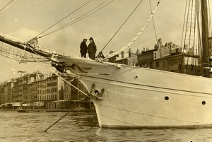 France Toulon Daladier the Yacht Vellela II to Elba Old Photo 1937