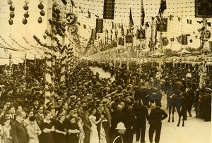 Spain Sevilla April Fair Feria de abril de Sevilla Old Photo 1940