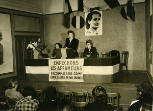 France Paris Congress of the French Women Union Old Photo 1947