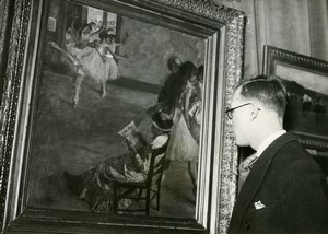 France Paris Degas Exposition at Orangerie his grandson Old Photo 1937