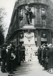 France Paris Death Anniversary of Shakespeare Old Manuel Photo 1937