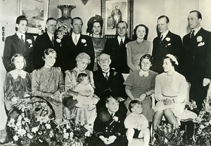 Sweden Golden Wedding Anniversary of Prince Bernadotte Old Photo 1938