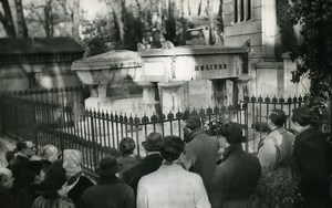 France Pere Lachaise Death of Moliere Commemoration Old Photo 1960