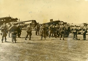 Greece Corinth WWII Aviation German Luftwaffe Paratroopers Aircrafts Photo 1940
