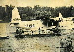 Germany Berlin Blockade Airlift Sunderland Flying Boat Lake Wannsee Photo 1948