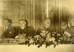 France Paris Cardinal Verdier, Maglione & Baudrillart Religion Old Photo 1935