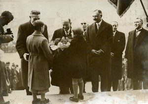 France Evreux Town Hall Edouard Daladier War Minister Old Photo 1936