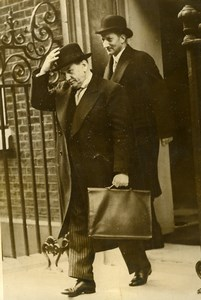 London Edouard Daladier Georges Bonnet 10 Downing Street Old Photo 1938