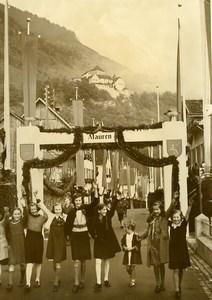 Vaduz National Day New Prince of Liechtenstein Franz Joseph II old Photo 1939
