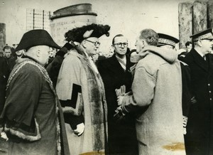 France Cherbourg Visit by Plymouth Mayor & Personalities Old Photo 1947