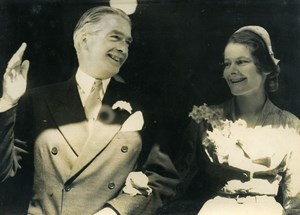 United Kingdom London Anthony Eden Clarissa Spencer Churchill Old Photo 1952