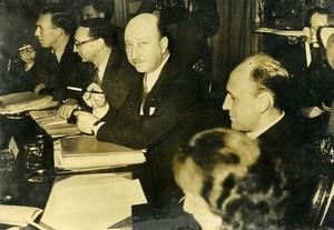United Kingdom London French Diplomat Mr de Saint Hardouin Old Photo 1947