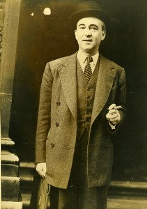 United Kingdom London French Diplomat Herve Alphand Old Photo 1948