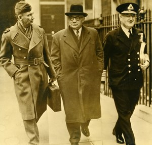 United Kingdom London RAF Lord Tedder Ernest Bevin Bruce Fraser Old Photo 1949