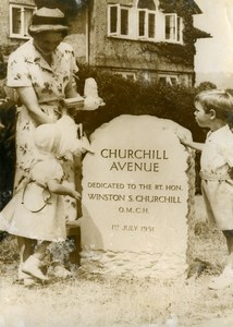 United Kingdom Westerham Winston Churchill Grand Children Old Photo 1951