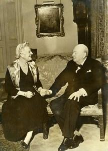 United Kingdom London Golden Wedding Mr & Mme Winston Churchill Old Photo 1958