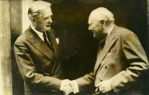 United Kingdom London Anthony Eden & Winston Churchill Old Photo 1955