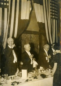 France Paris Banquet of the American Club in honor of Washington Old Photo 1936