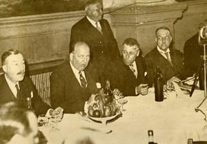 France Bourg en Bresse Banquet of the Democratic Alliance Flandin Old Photo 1936
