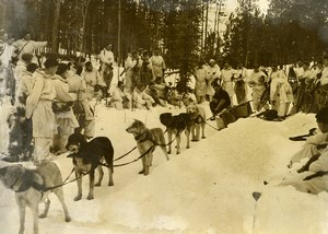 Canada Yukon Military Maneuvers near North Pole Sled dogs Old Photo 1948