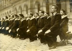 France Paris Invalides Saint Cyr Military School Students Baptism Old Photo 1948