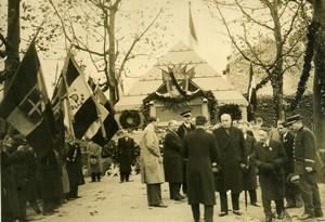 France Ivry Cemetery Italian Veterans Ceremony Vittorio Cerruti Old Photo 1936