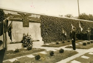 France Ivry Cemetery Italian Veterans Ceremony War Memorial Old Photo 1936